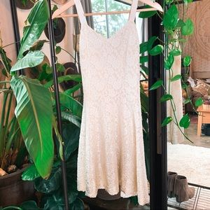 Free People | White & Gold Lace Party Dress